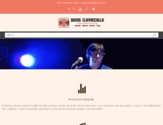 denis-clavaizolle.com screenshot