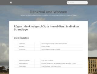 denkmal-und-wohnen.de screenshot