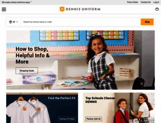 dennisuniform.com screenshot