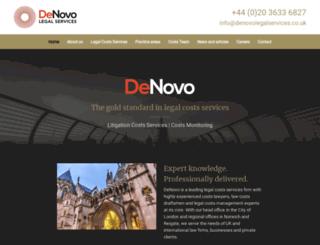 denovolaw.co.uk screenshot
