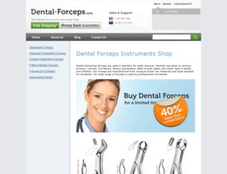 dental-forceps.com screenshot