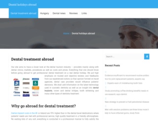 dental-holidays.net screenshot