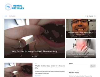 dentalarticles.com screenshot