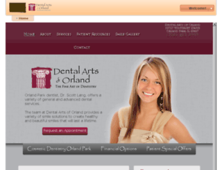 dentalartsoforland.mydentalvisit.com screenshot