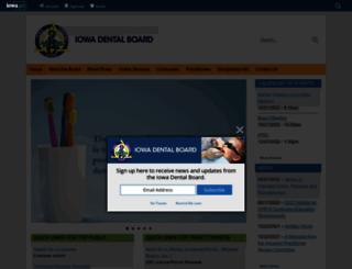 dentalboard.iowa.gov screenshot