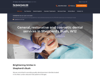 dentalcentre100.com screenshot