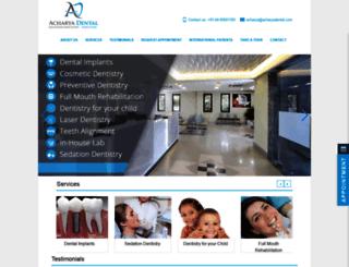 dentalclinicindia.in screenshot