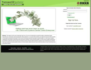 dentalcollectenterprise.sikkasoft.com screenshot