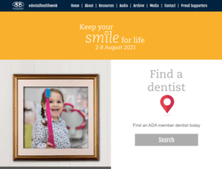 dentalhealthweek.com.au screenshot