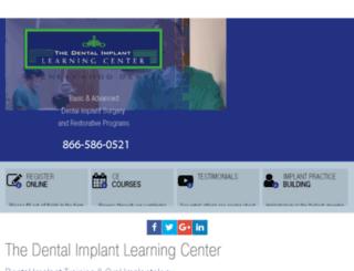 dentalimplantlearningcenter.com screenshot