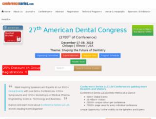 dentaloralhealth2015.conferenceseries.net screenshot