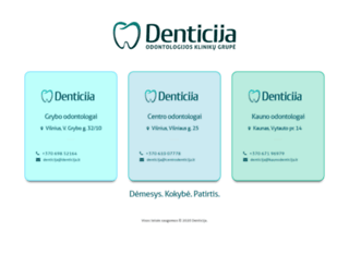 denticija.lt screenshot