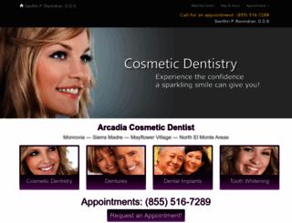 dentistarcadia.com screenshot