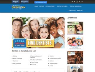 dentistdirectorycanada.ca screenshot