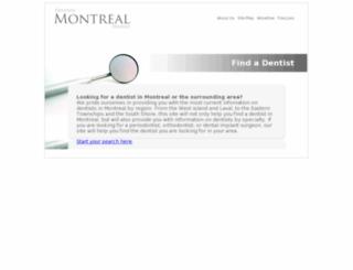 dentistemontrealdentist.com screenshot