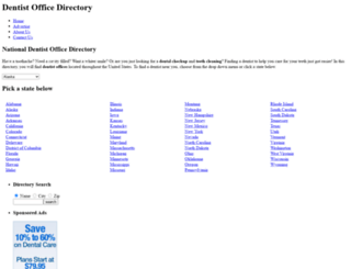 dentistofficedirectory.info screenshot