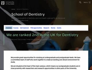 dentistry.dundee.ac.uk screenshot