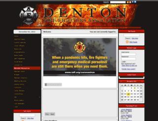 dentonfirefighters.org screenshot