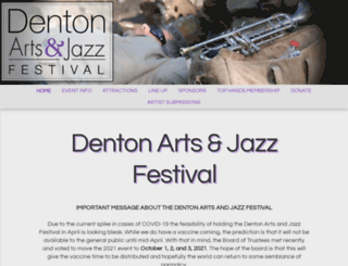 dentonjazzfest.com screenshot