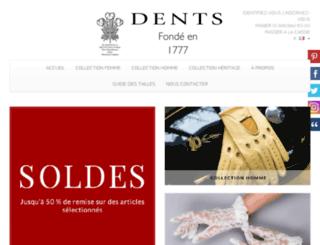dents-gants.fr screenshot