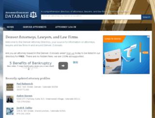 denver.attorneydirectorydb.org screenshot