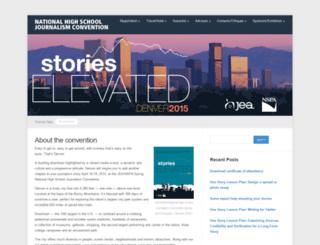 denver.journalismconvention.org screenshot