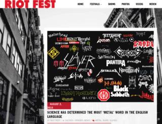 denver.riotfest.org screenshot