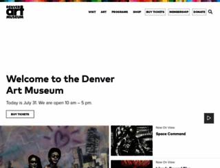 denverartmuseum.org screenshot