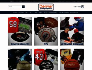 denverautographs.com screenshot