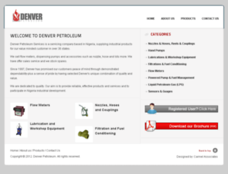 denverpetroleum.com screenshot