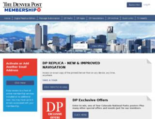 denverpostcustomercare.com screenshot