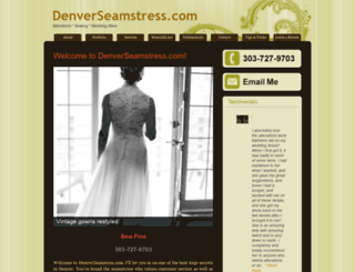denverseamstress.com screenshot