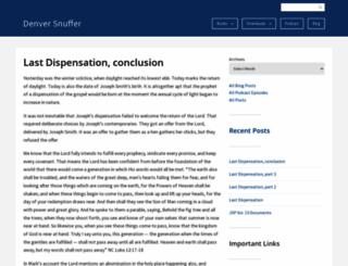 denversnuffer.com screenshot