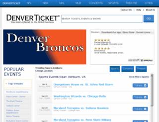 denverticket.com screenshot