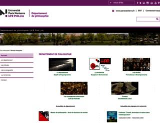 dep-philo.u-paris10.fr screenshot