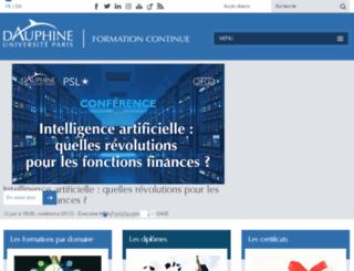 dep.dauphine.fr screenshot