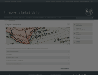 departamentos.uca.es screenshot