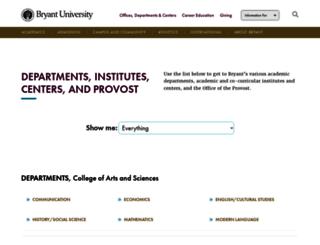 departments.bryant.edu screenshot