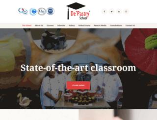 depastryschool.com screenshot
