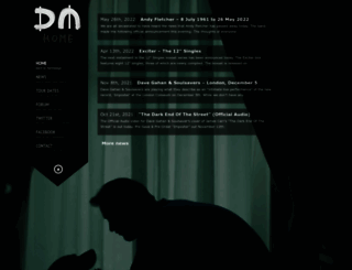 depeche-mode.com screenshot
