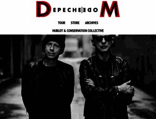depechemode.com screenshot