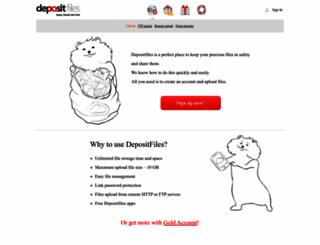 depositfiles.org screenshot