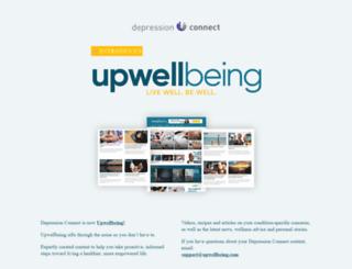 depressionconnect.com screenshot