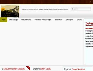 depthofafricasafari.com screenshot