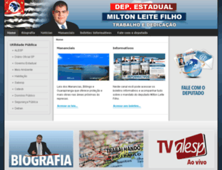 deputadomiltonleitefilho.com.br screenshot