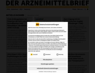 der-arzneimittelbrief.de screenshot