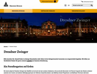 der-dresdner-zwinger.de screenshot