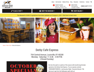 derbycafe.com screenshot