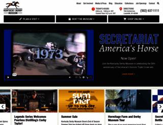 derbymuseum.org screenshot