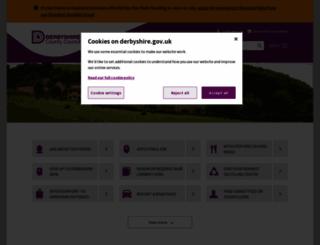 derbyshire.gov.uk screenshot